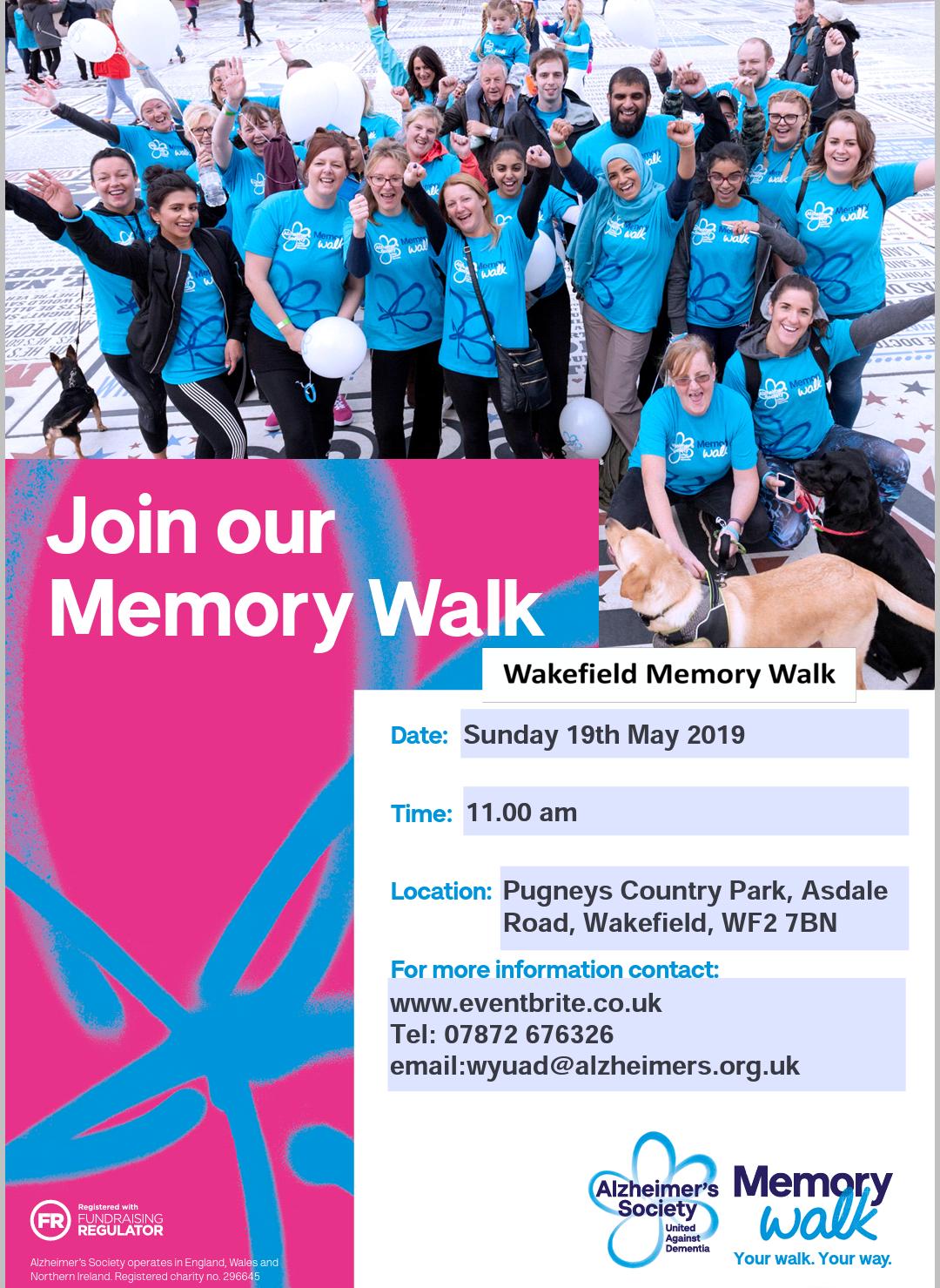 Wakefield Memory Walk…